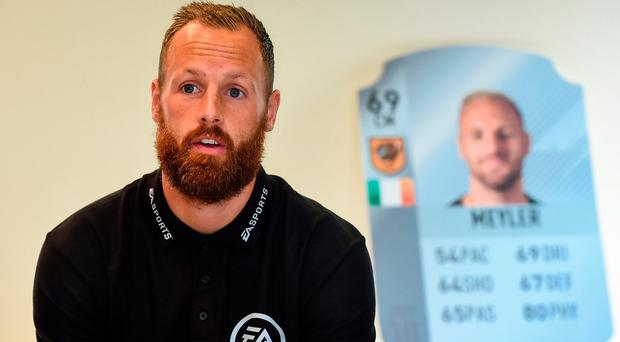 Republic of Ireland and Hull City's David Meyler at the launch of EA SPORTS™ FIFA 18, at Castleknock Golf Club. Photo: Stephen McCarthy/Sportsfile