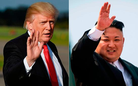 "'Mr Trump tweeted he had told Mr Tillerson ""he is wasting his time trying to negotiate with Little Rocket Man"", referring to North Korean leader Kim Jong-un.' Pic: AFP/Getty"