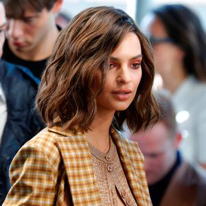 Model Emily Ratajkowski attends the Spring/Summer 2018 women's ready-to-wear collection show for fashion house Nina Ricci during Fashion Week in Paris, France, September 29, 2017. REUTERS/Charles Platiau