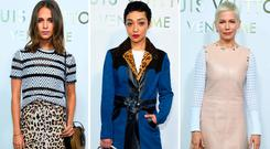 (L to R) Alicia Vikander, Ruth Negga and Michelle Williams at the opening Of The Louis Vuitton Boutique as part of the Paris Fashion Week Womenswear Spring/Summer 2018