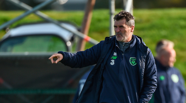 3 October 2017; Republic of Ireland assistant manager Roy Keane during squad training at the FAI National Training Centre in Abbotstown, Dublin. Photo by Seb Daly/Sportsfile