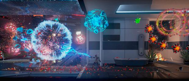 The neon-burnt visual extravaganza of Matterfall