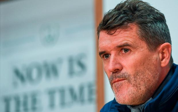 Republic of Ireland assistant manager Roy Keane during a press conference at the FAI National Training Centre in Abbotstown, Dublin. Photo by Seb Daly/Sportsfile