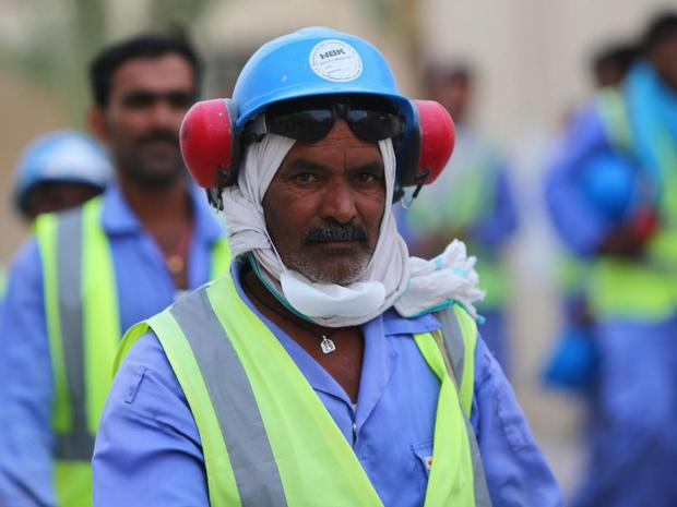 Migrant workers form an overwhelming majority of Qatar's population. Getty
