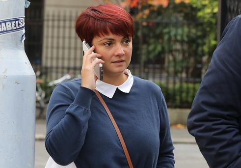 Fiona O Carroll pictured leaving the Four Courts on Tuesday after a Circuit Civil Court action. Pic: Collins Courts