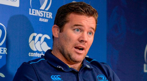 Leinster scrum coach John Fogarty during a press conference at Leinster Rugby Headquarters, in Dublin. Photo: Sam Barnes/Sportsfile