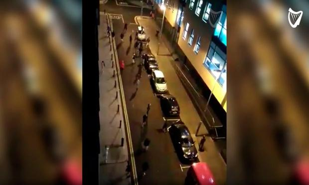 The vandals attacking cars on Monday
