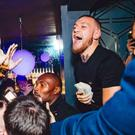 Conor McGregor was pelted with a drink in an appearance in a Glasgow bar CREDIT: CONOR MCGREGOR INSTAGRAM