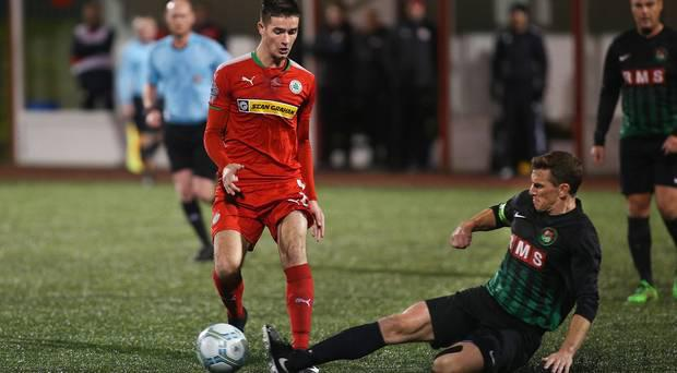 Cliftonville notched seven goals against the PSNI but one in particular hit the headlines. Photos: AMMG   Chris Scott