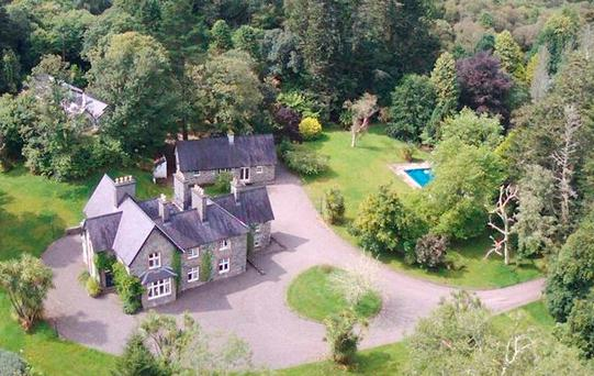 Aerial view of Glashnacree House in Derryquin, Sneem, Co Kerry. Picture: Bid X1