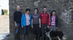 The Walsh Family, the Walsh Family Farm, Ballylooby, Cahir, Co. Tipperary. Picture Clare Keogh