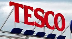 Tesco is the second-largest grocery retailer in Ireland, according to research group Kantar Worldpanel, with a 22pc share by value. (Stock picture)