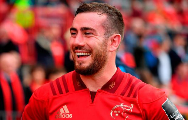 JJ Hanrahan of Munster after the Guinness PRO14 Round 5 match between Munster and Cardiff Blues at Thomond Park in Limerick. Photo by Brendan Moran/Sportsfile