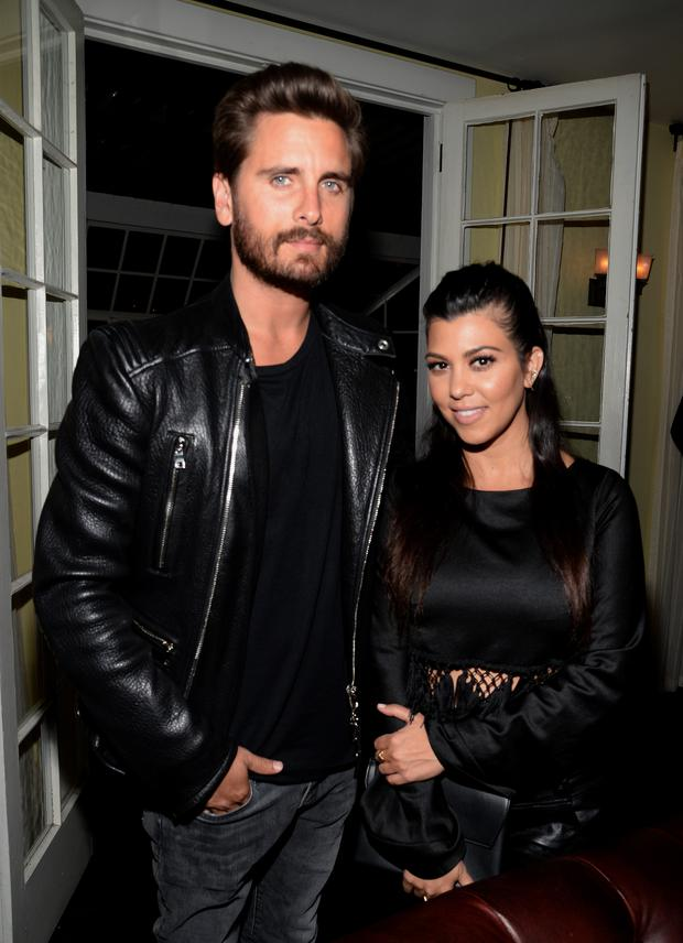 Scott Disick (L) and ex Kourtney Kardashian in 2015. (Photo by Chris Weeks/Getty Images for Calvin Klein)