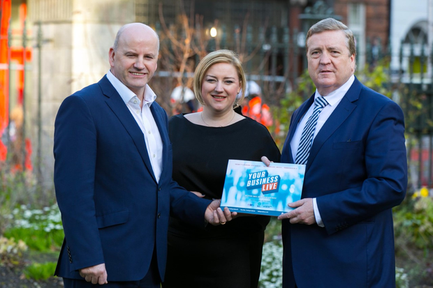 Sean Gallagher, Event Director; Dearbhail McDonald, Group Business Editor, INM; and Minister of State Pat Breen.