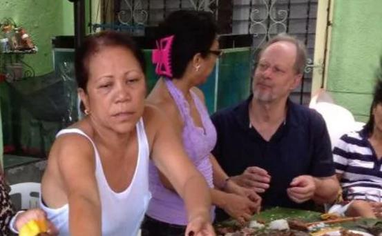 Marilou Danley, left, during a trip to the Philippines in 2013 with Stephen Paddock, far right, the gunman responsible for 58 deaths in Las Vegas. Credit: Facebook