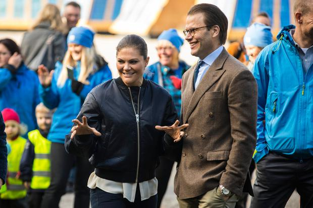 Princess Victoria and Prince Daniel of Sweden attend the Swedish Outdoor Associations 125th anniversary celebrations at Haga Park on October 4, 2017 in Stockholm, Sweden. (Photo by MICHAEL CAMPANELLA/Getty Images)