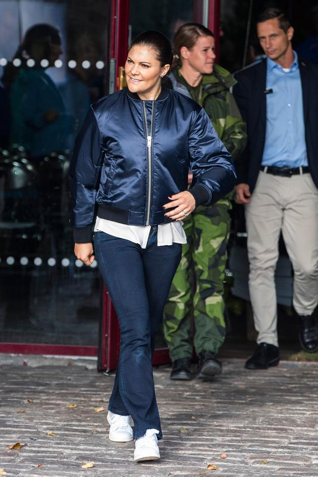 Princess Victoria of Sweden attends the Swedish Outdoor Associations 125th anniversary celebrations at Haga Park on October 4, 2017 in Stockholm, Sweden. (Photo by MICHAEL CAMPANELLA/Getty Images)