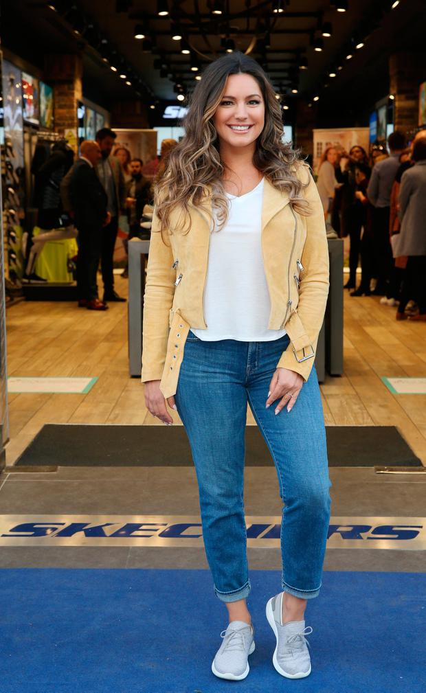 Kelly Brook at the launch of the latest footwear collection, YOU by Skechers, in the Henry Street store. Picture: Leon Farrell/Photocall Ireland