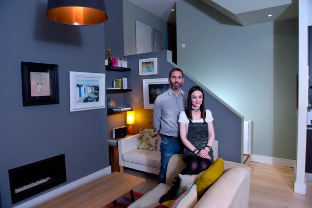 Cian and Catherine McDonald at their home on Arnott Street. Photo. Bryan Meade