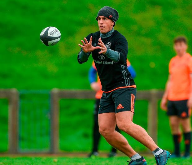 Ian Keatley's eyes are firmly on the ball. Photo by Diarmuid Greene/Sportsfile