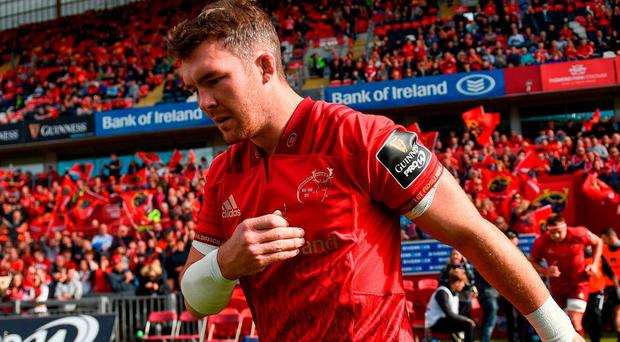 Peter O'Mahony believes that there are exciting times ahead for Munster. Photo by Brendan Moran/Sportsfile