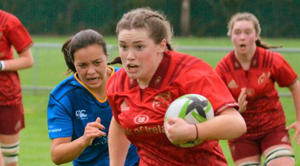 Maggie Boylan on the attack for the Munster