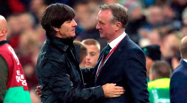 Michael O'Neill confident Northern Ireland will make play-offs after Germany defeat