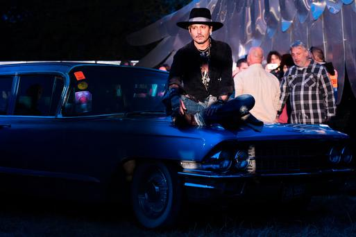 Actor Johnny Depp at the Glastonbury Festival earlier this year