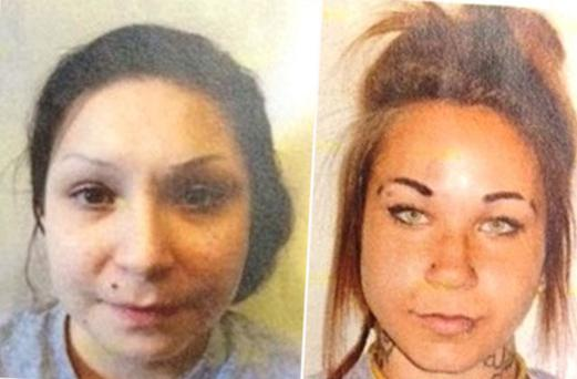 Kelsie Laine Marie Mast, 23, and Samantha Faye Toope, 20, jumped a fence at Edmonton Institution for Women on Monday
