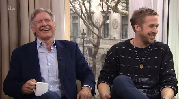 Harrison Ford and Ryan Gosling on This Morning