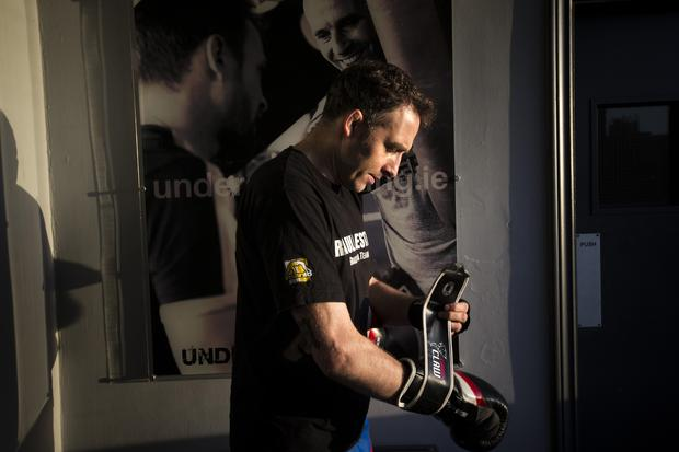 Paddy Carmody at Underdog Boxing gym believes boxing is a workout for the whole body. Photo: Mark Condren