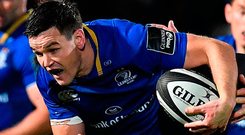 If Leinster's forwards can get the upper hand, then Sexton can control matters and if that happens then the home side will win. Photo by Brendan Moran/Sportsfile