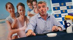 Ryanair CEO Michael O'Leary on September 18 during a press conference on the airline's recent flight cancellations. Photo: Frank McGrath