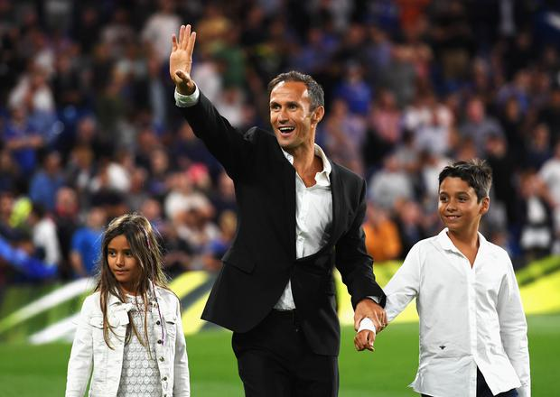 Former Chelsea defender, Ricardo Carvalho walks around the pitch at half time during the Premier League match between Chelsea and West Ham United at Stamford Bridge on August 15, 2016 in London, England. (Photo by Darren Walsh/Chelsea FC via Getty Images)