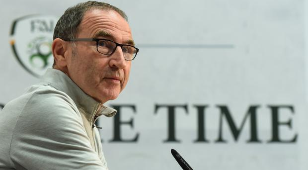 Republic of Ireland manager Martin O'Neill during a press conference at the FAI National Training Centre in Abbotstown, Dublin. Photo by Stephen McCarthy/Sportsfile