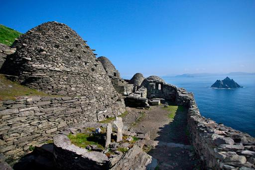FRESH PROJECTS: The monastic island of Skellig Michael is expected to feature heavily in the upcoming 'Star Wars' movie after extensive filming involving Mark Hamill in his role as Luke Skywalker, took place there in 2015. Photo: Valerie O'Sullivan