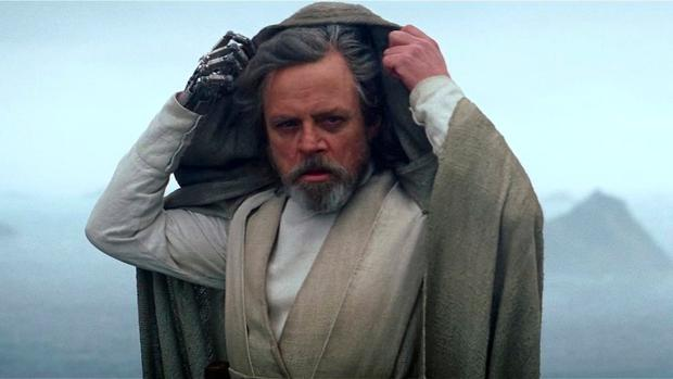 Mark Hamill in his role as Luke Skywalker