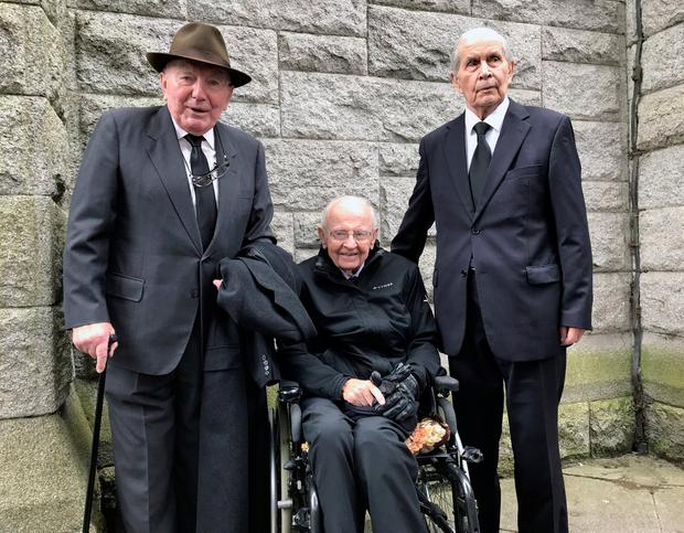 Former ministers in Cosgrave cabinet L to R Patrick Cooney, Richie Ryan and Tom O Donnell. Photo: Eamonn Farrell/RollingNews.ie