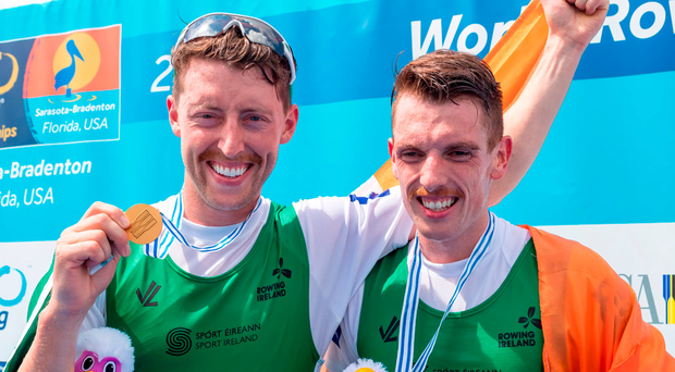 2017 has to a certain extent belonged to Mark O'Donovan and Shane O'Driscoll who have reigned over the lightweight pairs all season, winning all their World Cup races by large margins Photo: Sportsfile/row2k