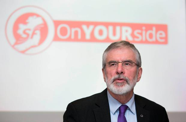 Sinn Fein President Gerry Adams Photo: Gareth Chaney Collins