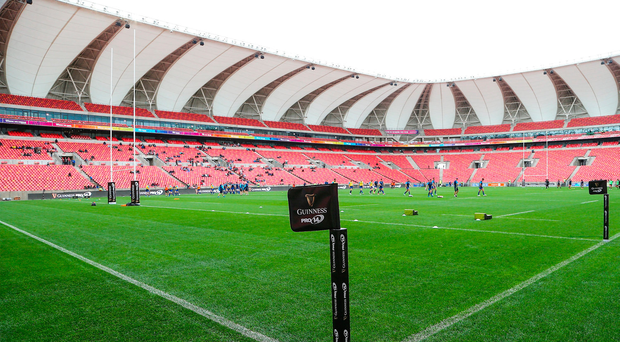 16 September 2017; A general view of branding during the Guinness PRO14 Round 3 match between Southern Kings and Leinster at the Nelson Mandela Bay Stadium in Port Elizabeth, South Africa. Photo by Richard Huggard/Sportsfile