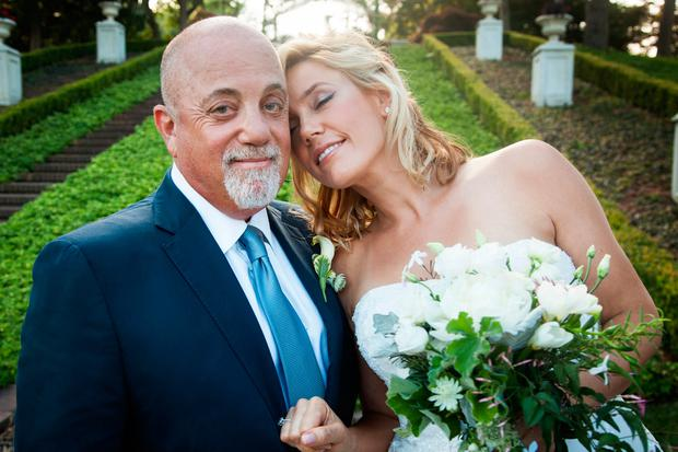 Billy Joel and Alexis Roderick on their wedding day in 2015