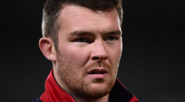 Peter O'Mahony of the British & Irish Lions during the First Test match between New Zealand All Blacks and the British & Irish Lions at Eden Park in Auckland, New Zealand. Photo by Stephen McCarthy/Sportsfile