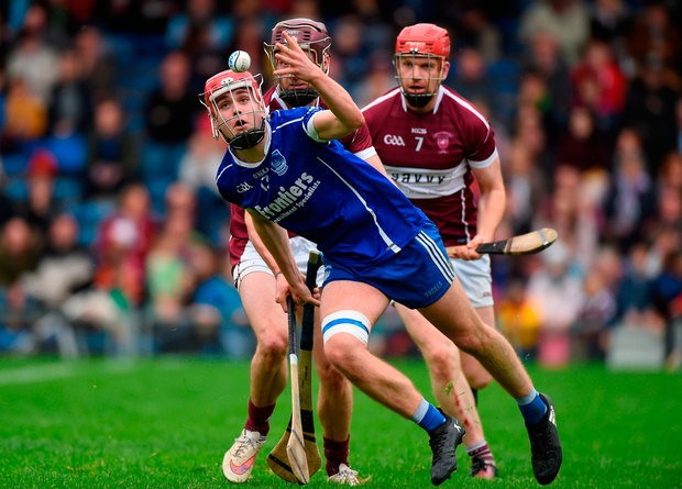 Conor Stakelum of Thurles Sarsfields in action against Paddy Stapleton of Borris-Ileigh. Photo by Matt Browne/Sportsfile