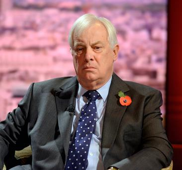 Upset: Chris Patten