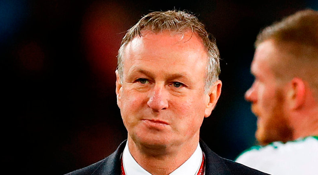 Northern Ireland manager Michael O'Neill after the match. Photo: Martin Rickett/PA