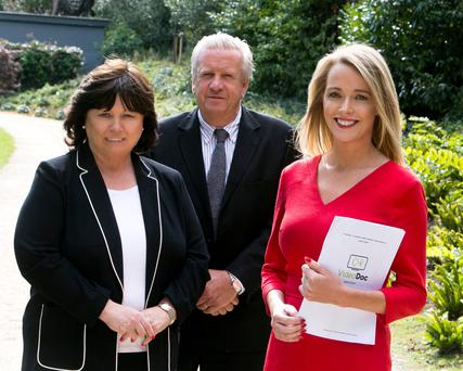 May Harney, Chair of VideoDoc, Dr Conor O'Hanlon, Medical Director of VideoDoc, and Mary O'Brien, CEO VideoDoc
