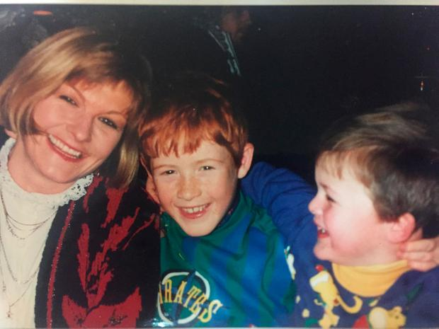 Brothers Mick and Will with their late mother Biddy