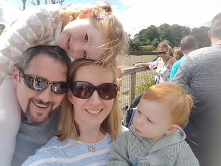 Grainne O'Brien and her husband Conor Gahan are having to meet rising costs for their two children